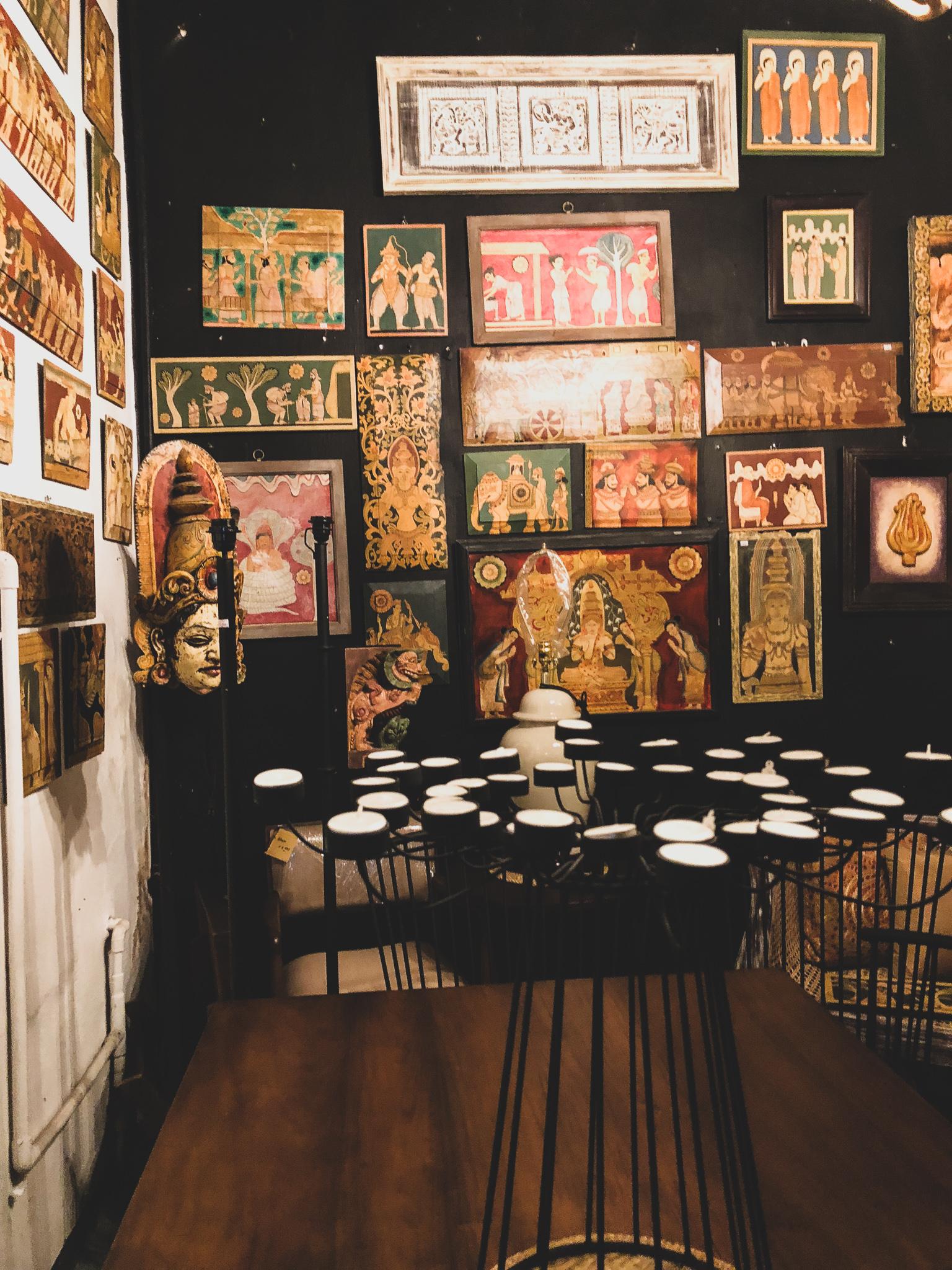 Decorative painted wood at Suriya