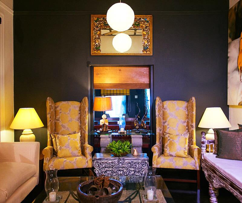Customised furniture and cushions at Suriya