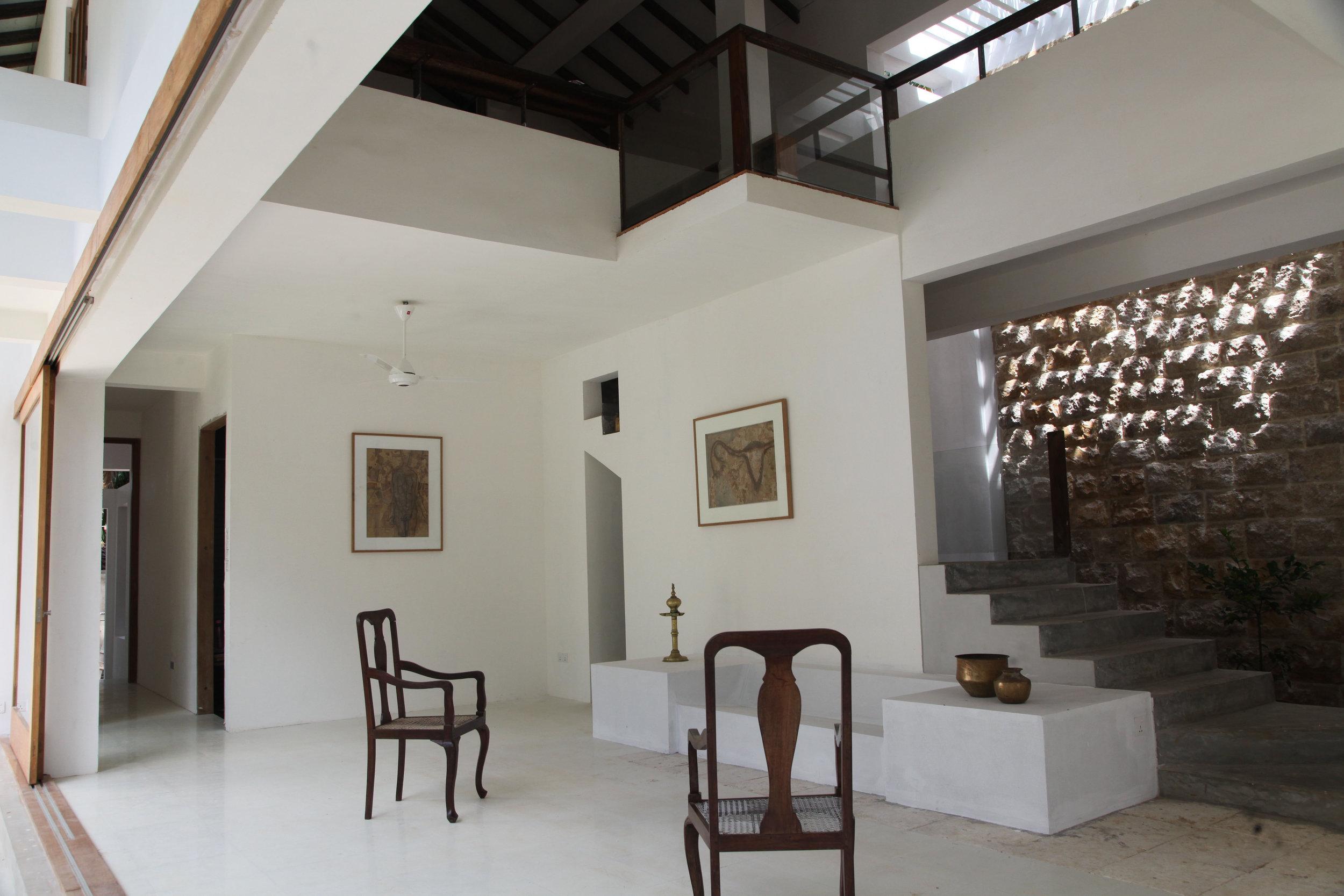 The Jaffna house - open plan living