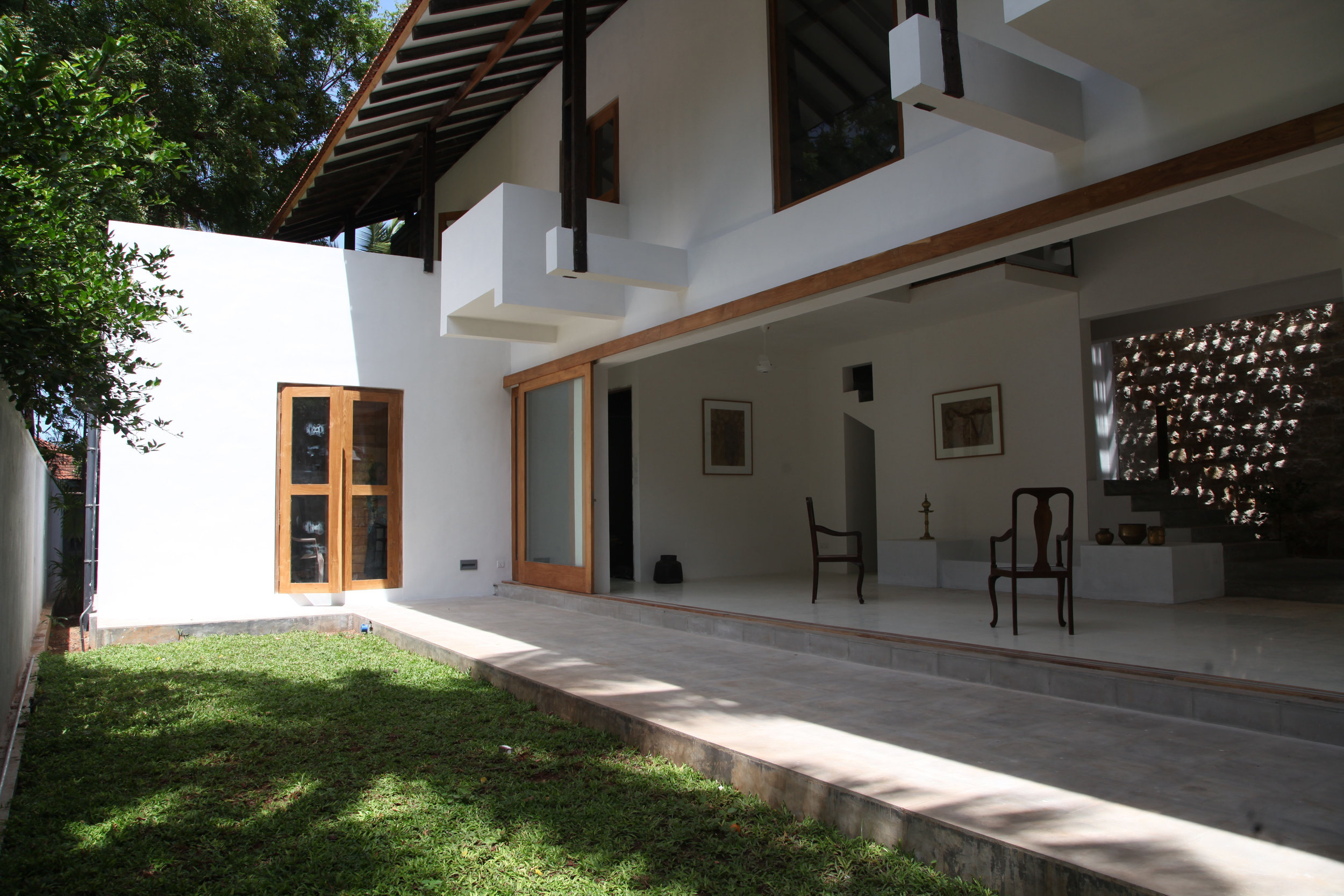 The Jaffna house - inward-facing private courtyard