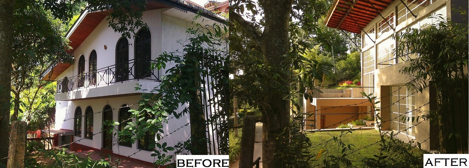Renovation of a Kandy terrace house which simplifies the structure and amplifies the available light. Photo credit - Ruchira Wickramasinghe