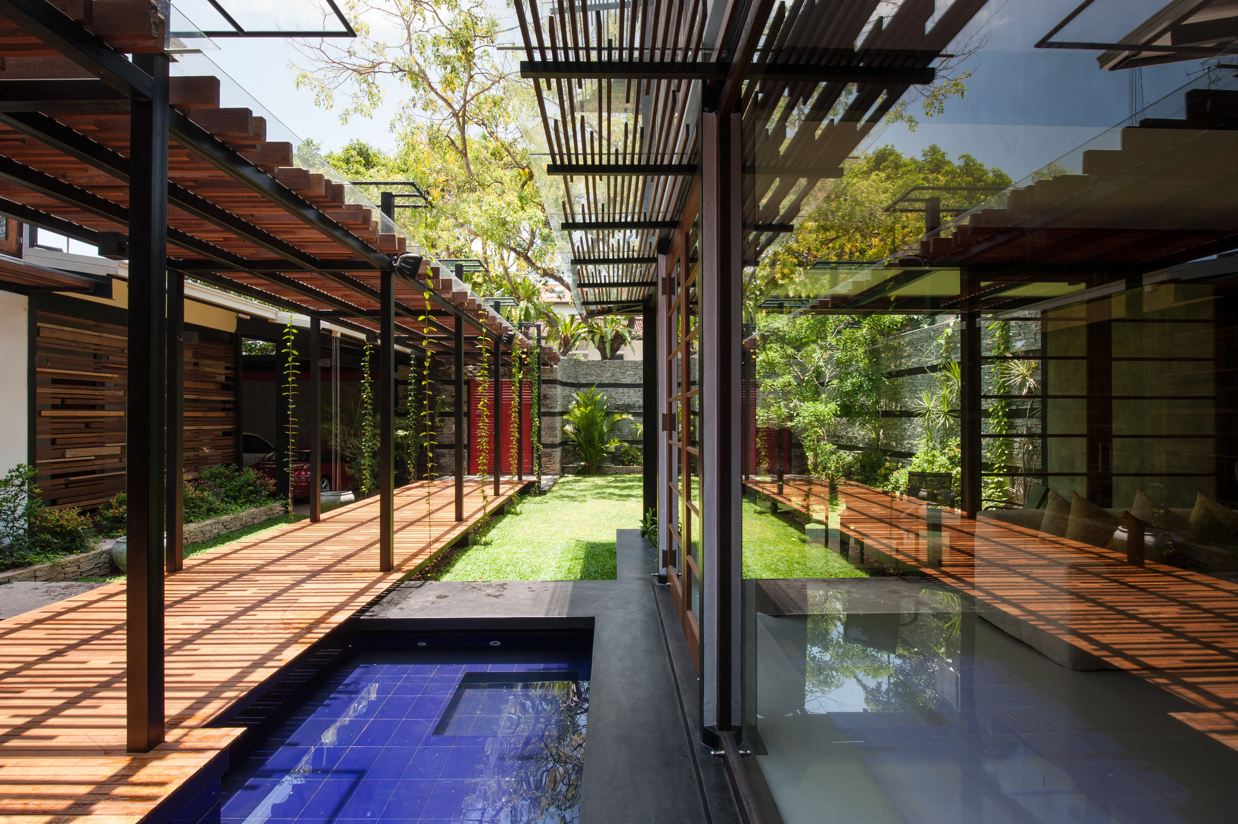 House No. 8 - pool and reflections