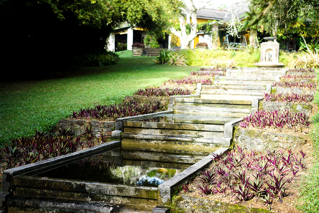 The terraced fountain at Brief garden