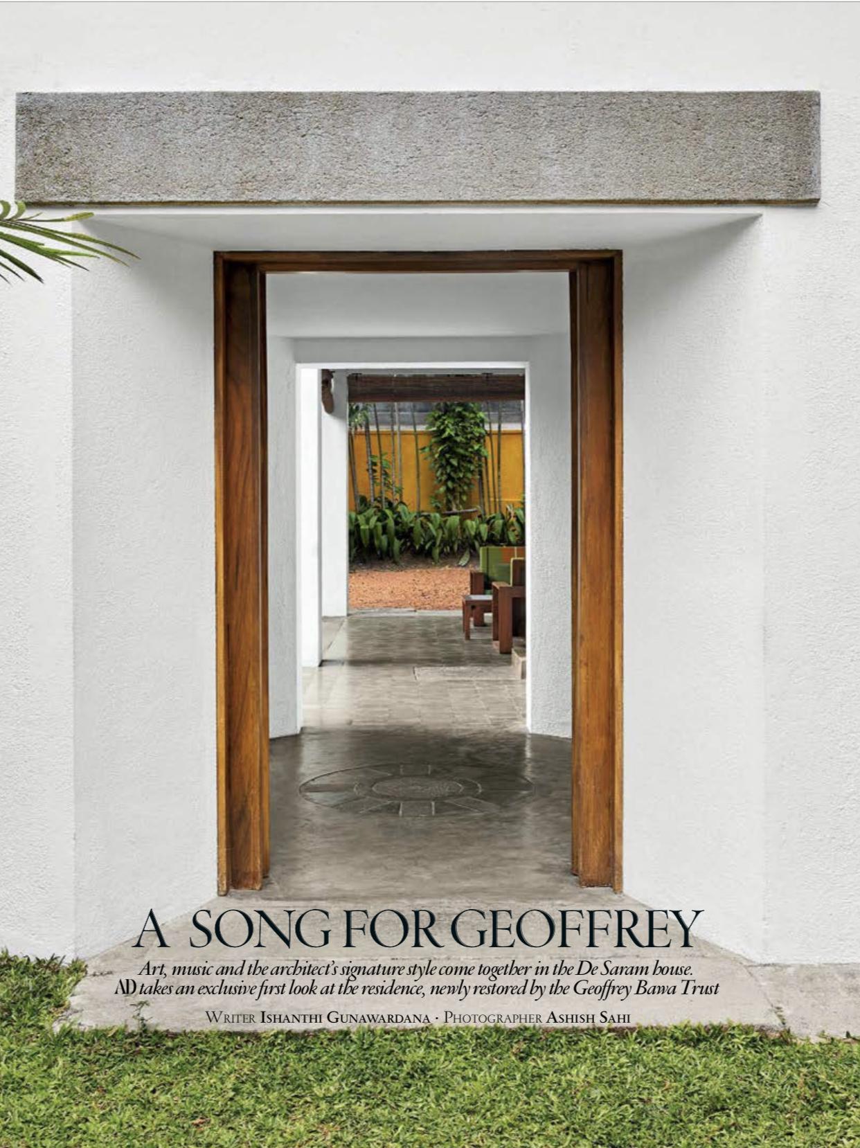 Sri Lankan Architecture - De Saram house - Geoffrey Bawa