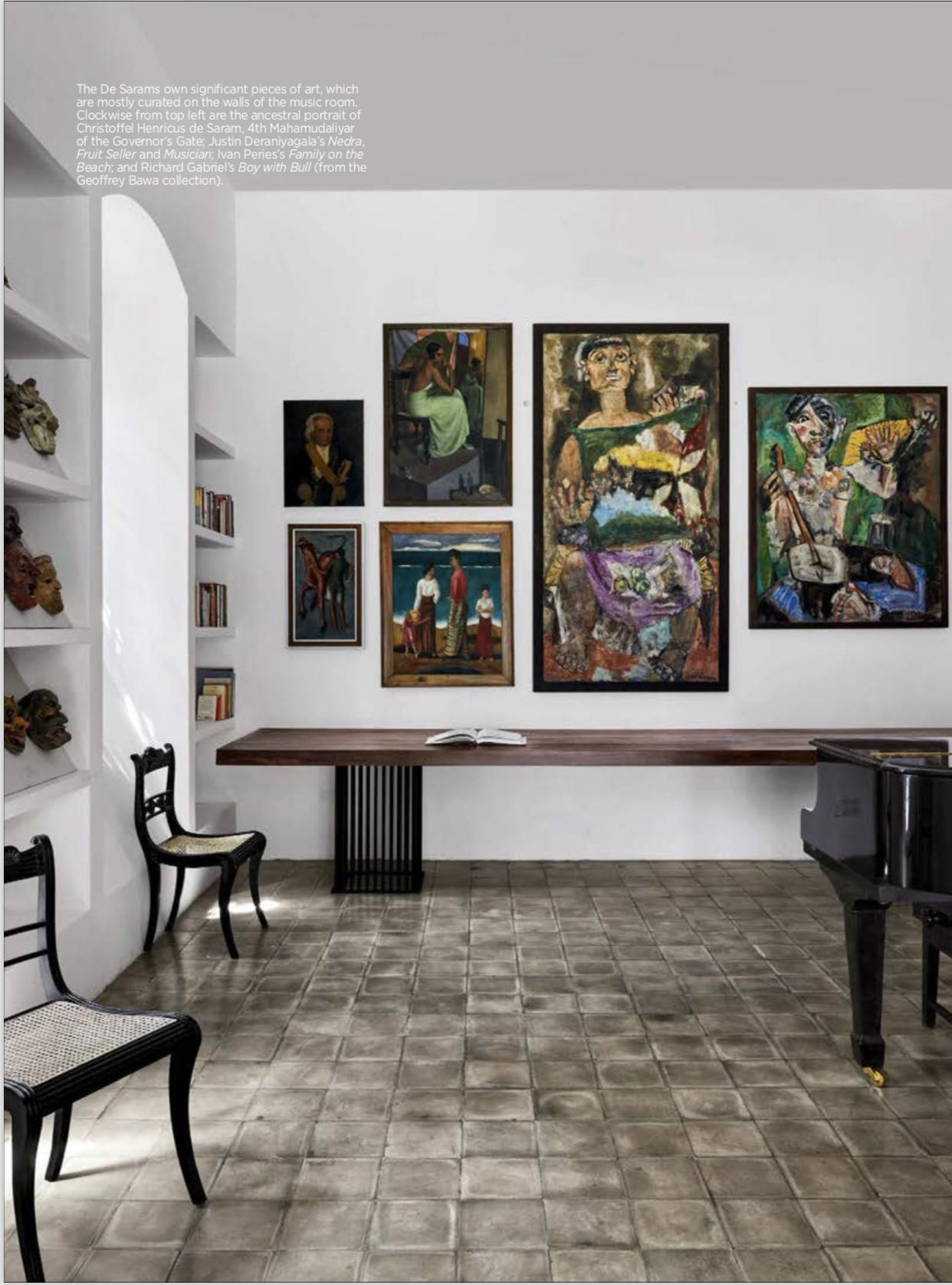 Music room with Deraniyagala paintings