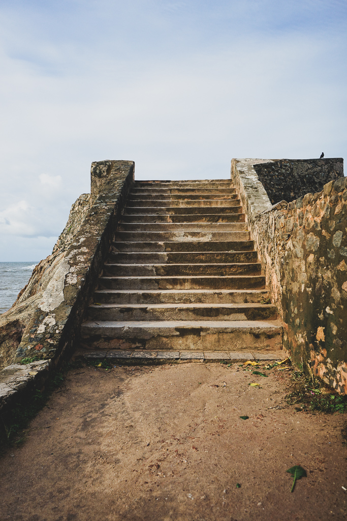 Stairs on Galle Fort ramparts