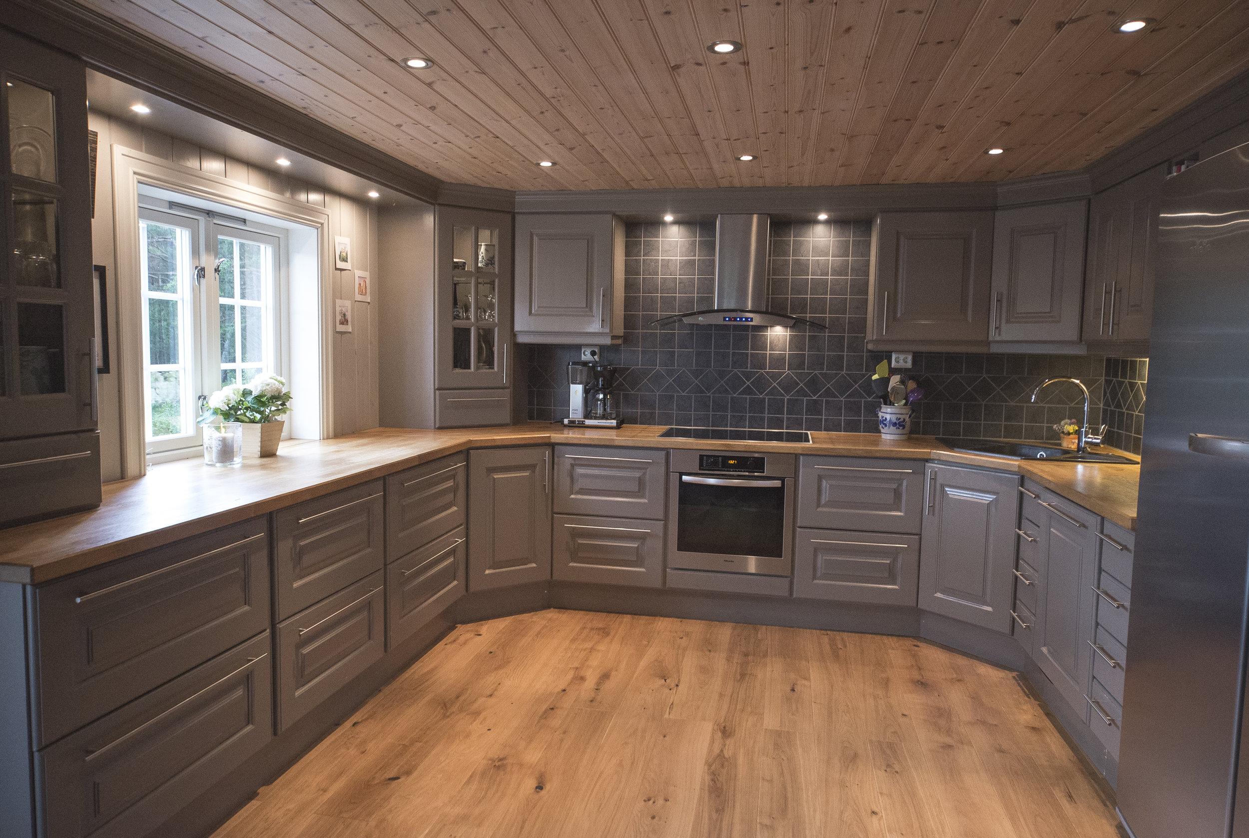 Håndverk som varer – dette kjøkkenet er godt brukt i over ti år.