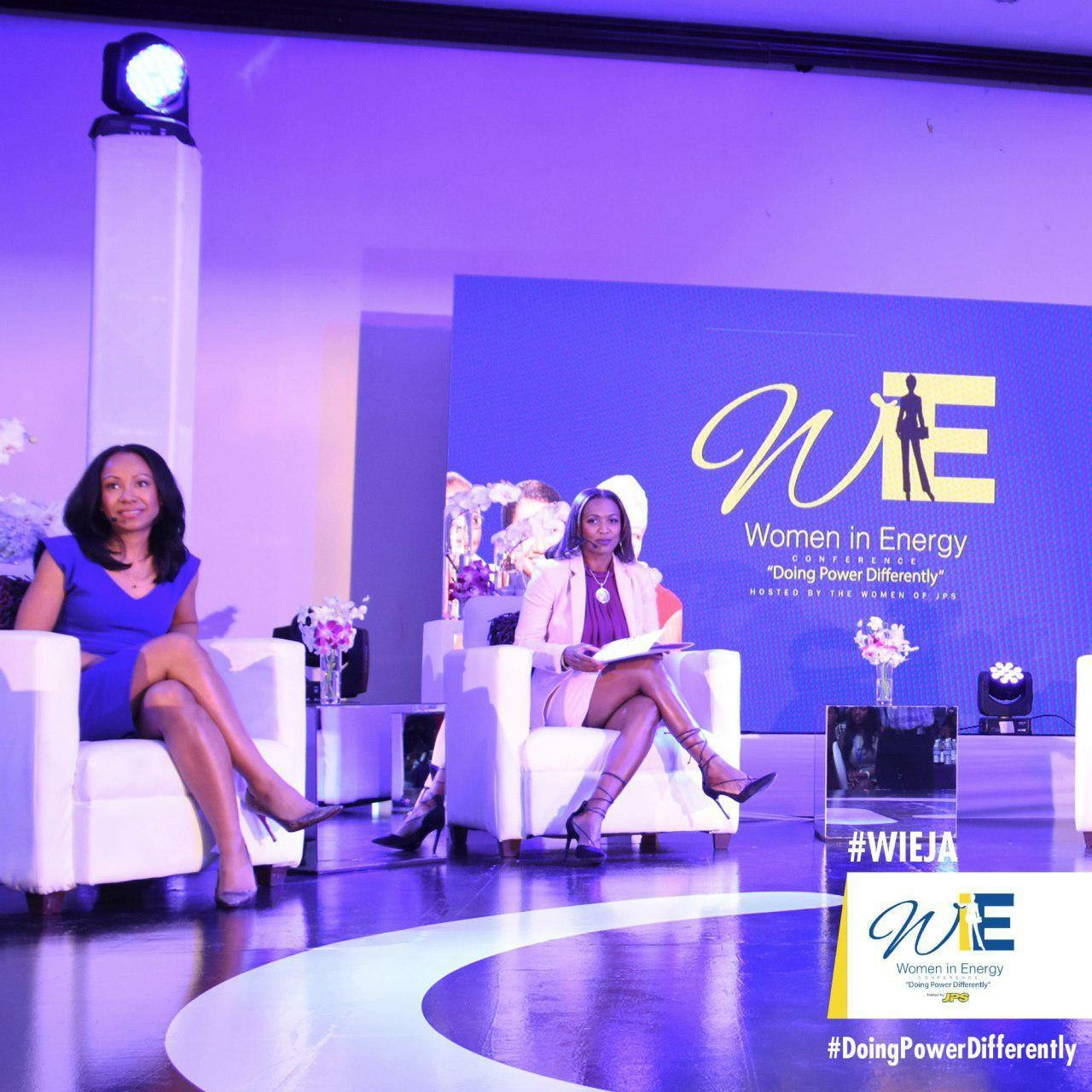 Ms. Angella Rainford, Managing Director (Rekamniar Frontier Ventures) and Ms. Odeth Reynolds, HR Manager (Jamaica Energy Partners)