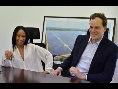 Chairman of Eight Rivers Energy Company, Angella Rainford, and international development manager at Neoen, Gregoire Petit, speak about the Paradise Park Solar Farm in an interview with the Financial Gleaner.