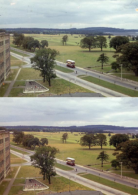 Muirhouse Parkway, ca 1965  - 35mm colour positive slide