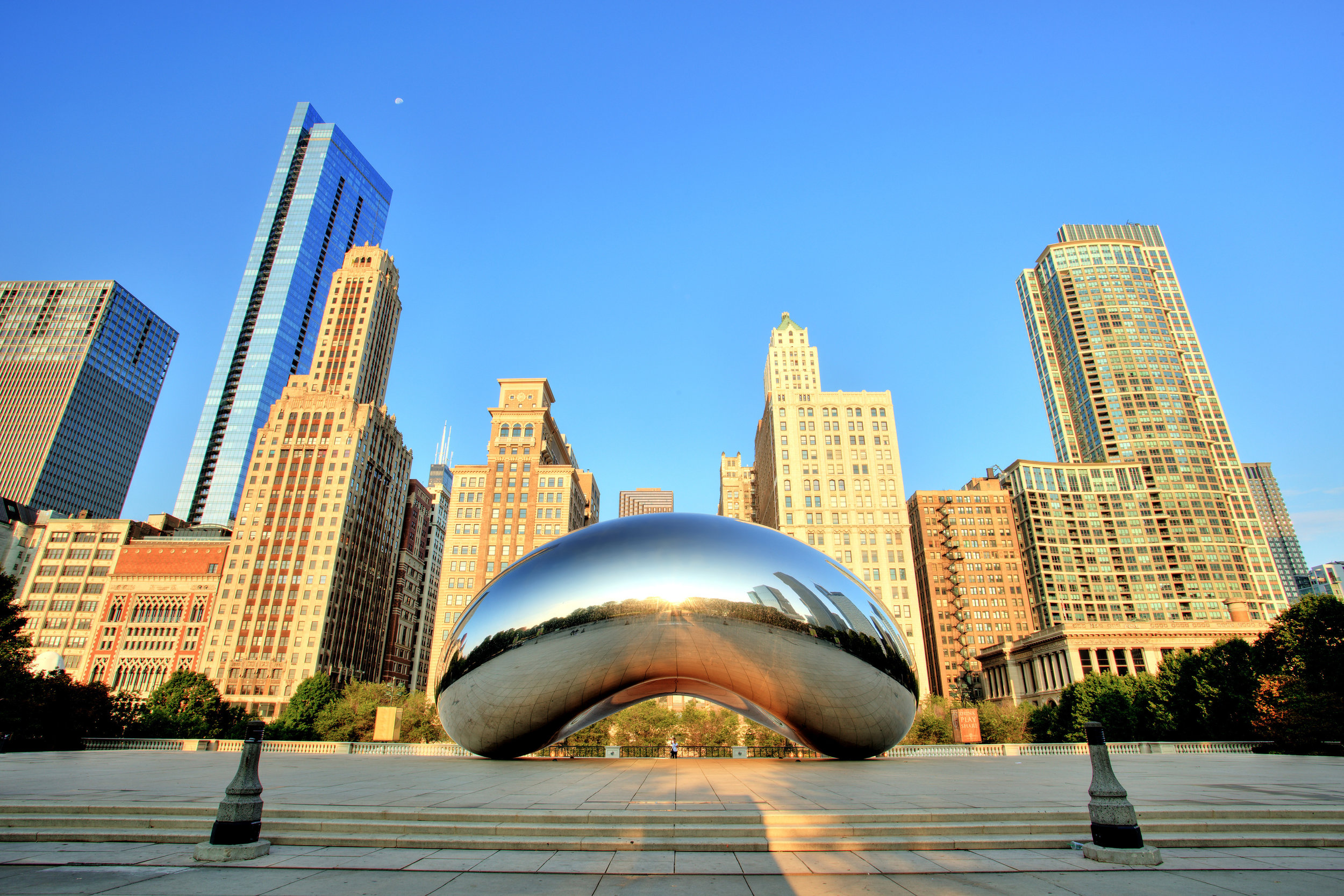 "Just across from the ""Bean"""