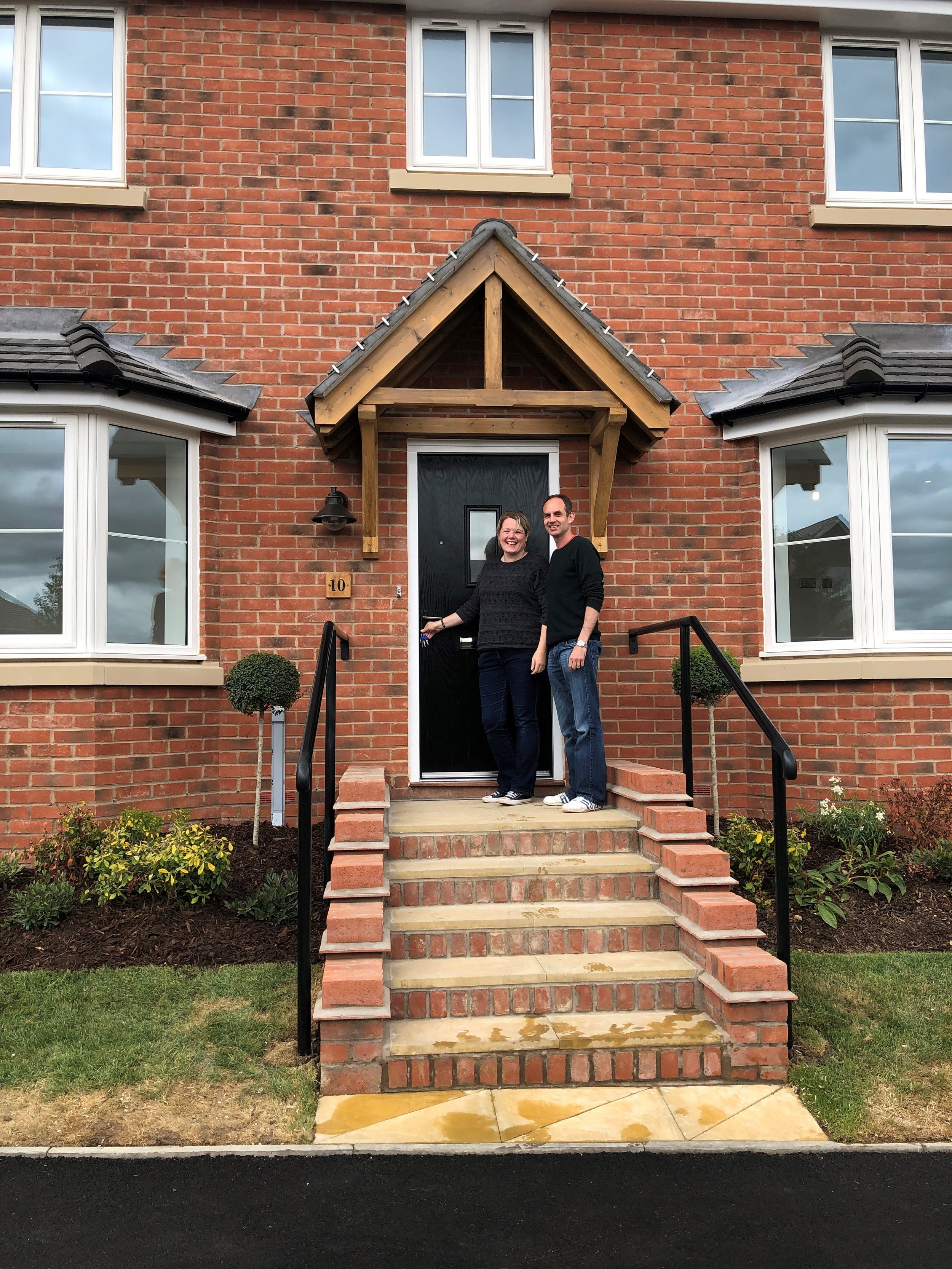 Mr and Mrs Campbell move into their new home at Hayfield Grange, Southam.jpg