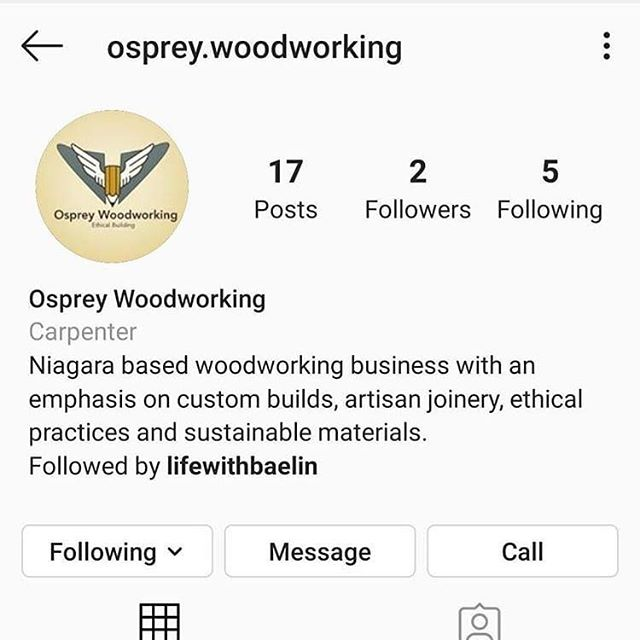 Today's #followfriday is my close friend and fellow student Jon's new page @osprey.woodworking ! Not only are we fellow students, but we have worked together on a few projects and there is a high possibility of us working together full time! Do me a favour and give him a follow! Let him know I sent you and show him how great this community is! . . . . . #communityovercompetition #wood #woodburning #pyrography #witteveenwoodburning #witteveenwoodworking #smallbusiness #supportlocal #woodwork #woodburn #woodworking #handcrafted #rusticdecor #homedecor  #handmade #makerfeature #rustic #livewood #makersgonnamake #madeinontario #reclaimedwood #niagara #homeimprovement #roofing #construction #renovations