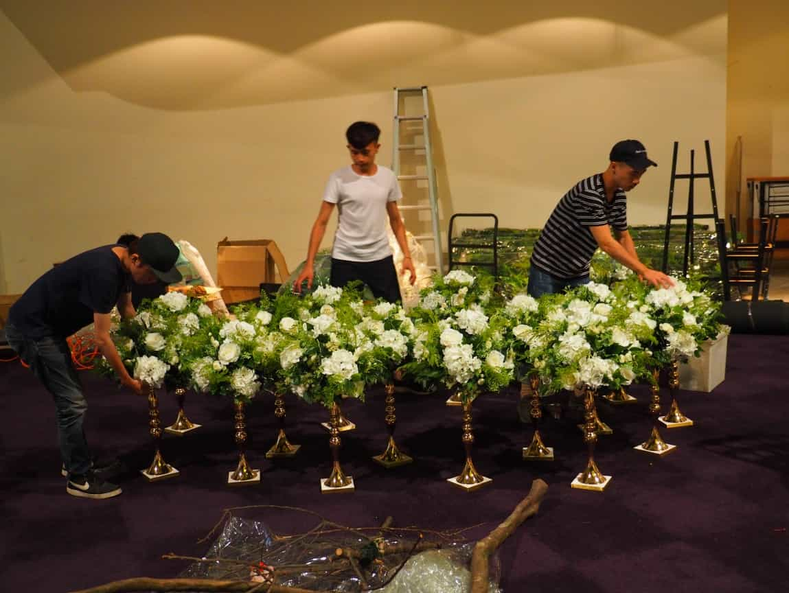西式婚禮佈置桌花.JPG