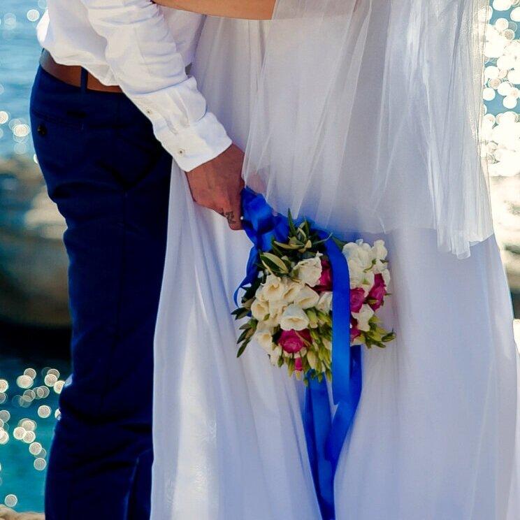 白紗使用捧花撞色