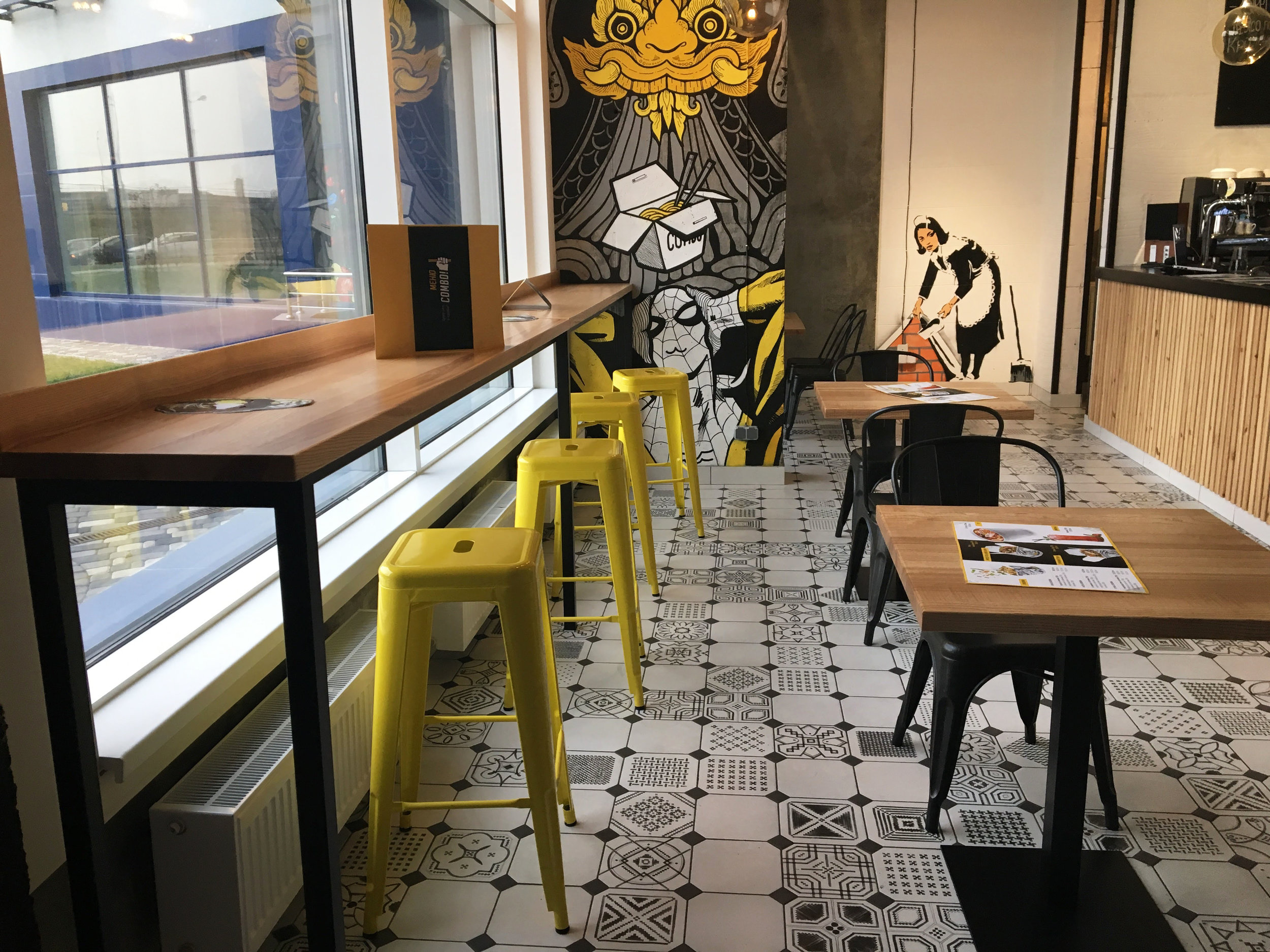 Combo Restaurant - Type of works: design project, complete furnishing of premise