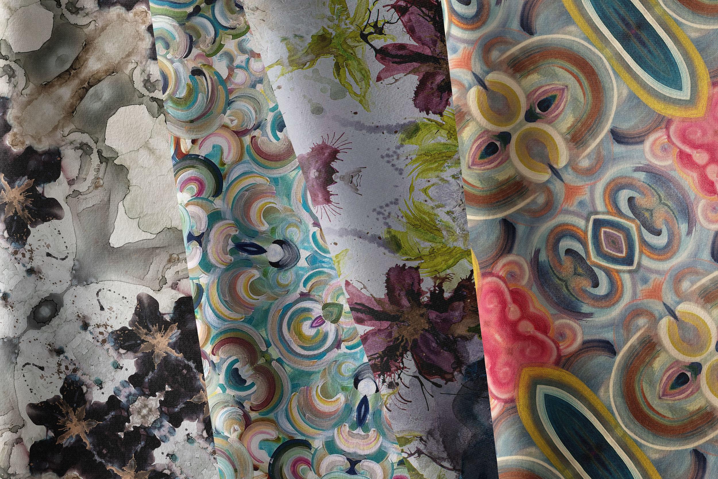 custom textile design by north carolina abstract artist amanda moody