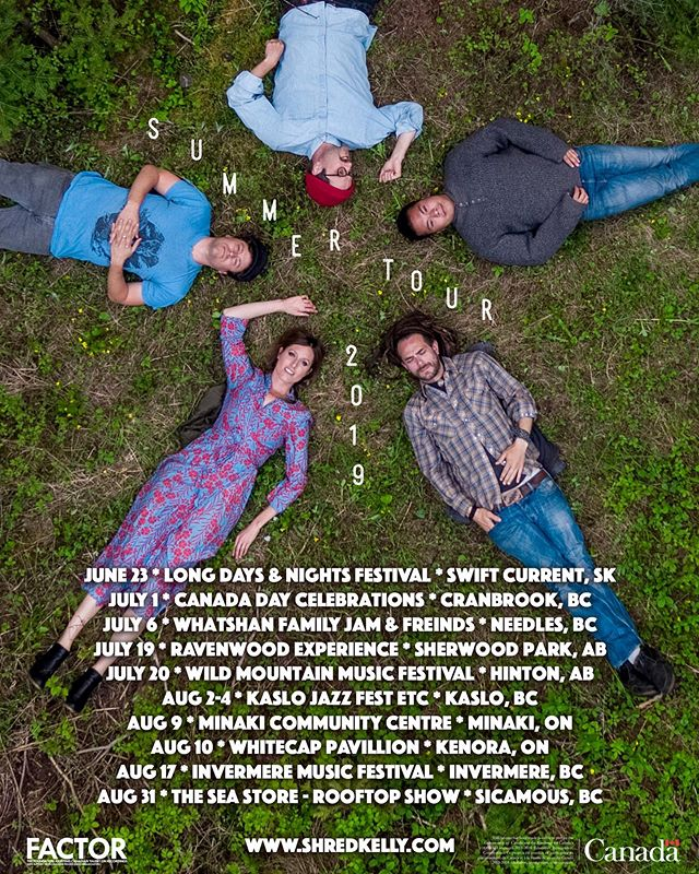 We are hitting the road this summer and the fun starts this weekend! Hope to see many pals at a festival or show in Western Canada this summer. 🚐 . . . #festivalseason #livemusic #bandlife #musicianslife #factor #bcmusic #canadianindie #indiemusic #partypartyparty #alternativefolk #folkrock #tourlife #vanlife #musicians #musiciansofinstagram