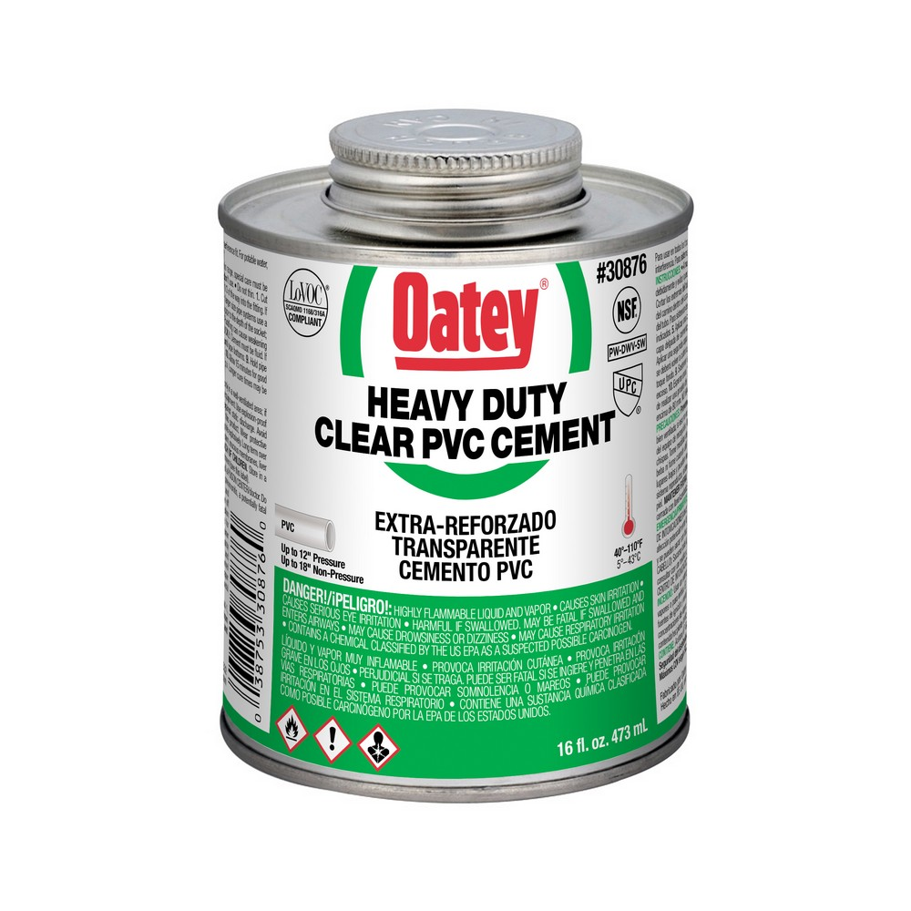 30876 - 16oz Clear PVC Cement