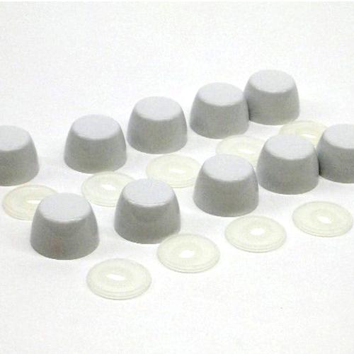 THU098#01 - BOLT CAPS - COTTON WHITE