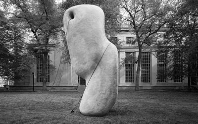 McKnelly Megalith ( Matter Design  / MIT): a 16' tall GFRC object created to test hypotheses about prehistoric methods for moving and installing megalithic statues.