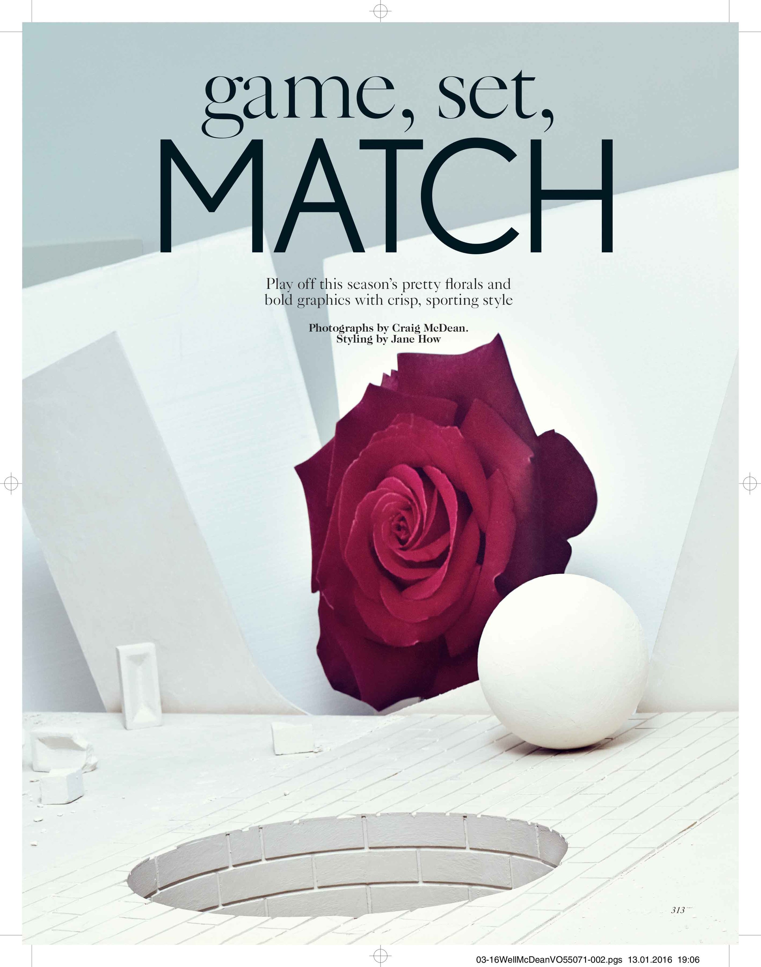 """Game, Set, Match"", British Vogue"