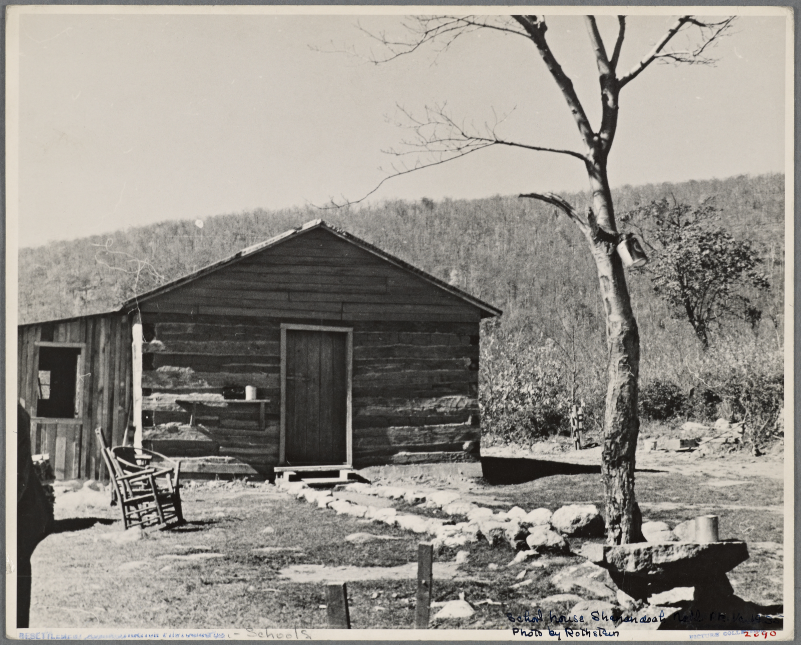 Schoolhouse at Corbin Hollow. Shenandoah National Park, Virginia. c. 1935