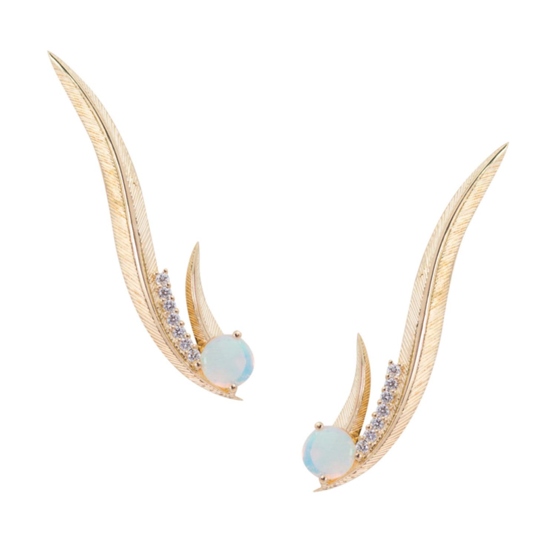 Daou Jewellery Pheoenix Ear Climber Earrings
