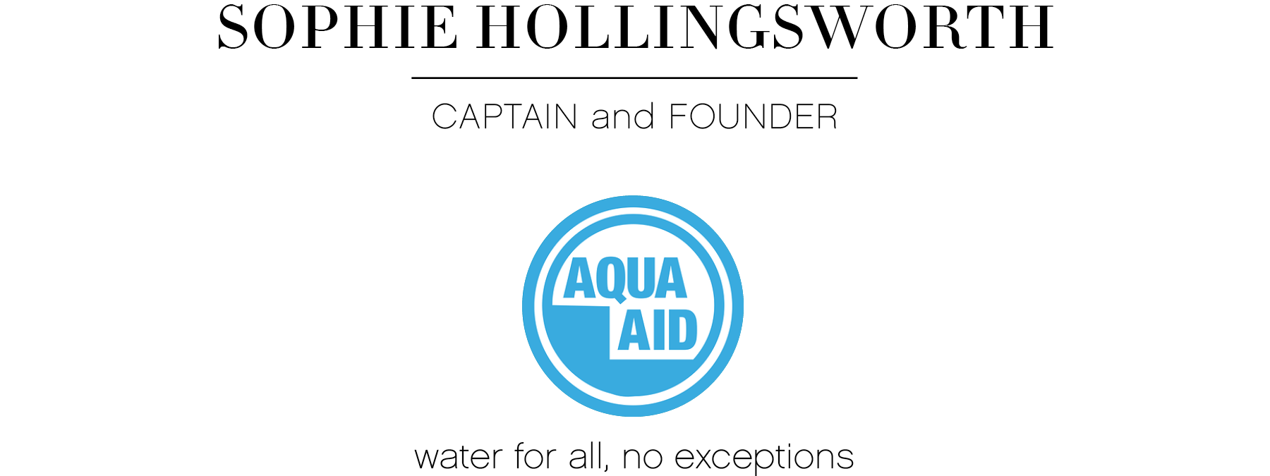 Sophie Hollingsworth Aqua Aid