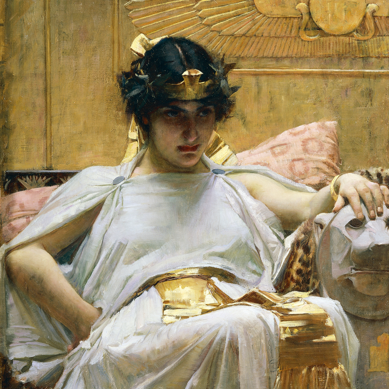 Cleopatra Power Woman Painting by John William Waterhouse
