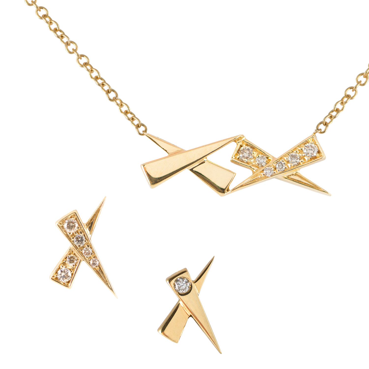 Daou Jewellery Kisses Necklace and Earrings