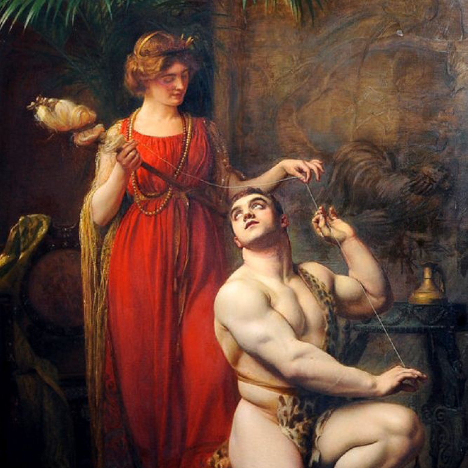 Hercules at the Feet of Omphale by Gustave Courtois