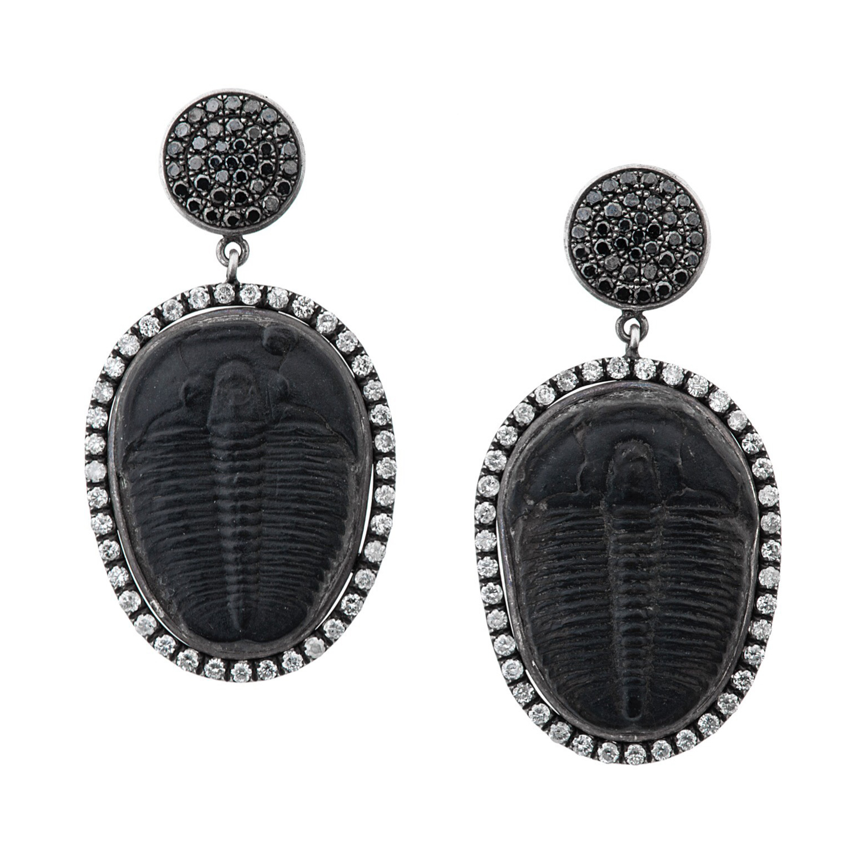 Trilobite Earrings by Feral Jewelry