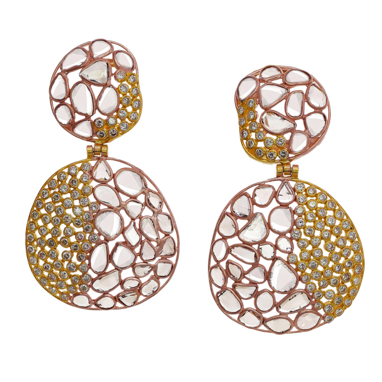 Deeta Thakural Diamond Slice Earrings