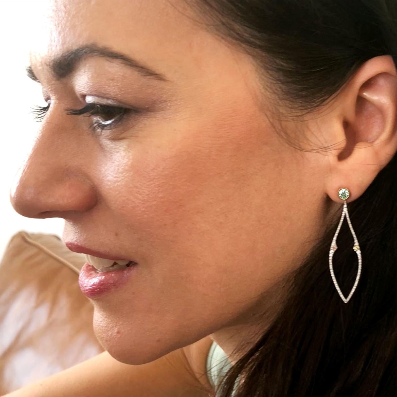 Kristin Hanson Colored Diamond Earrings