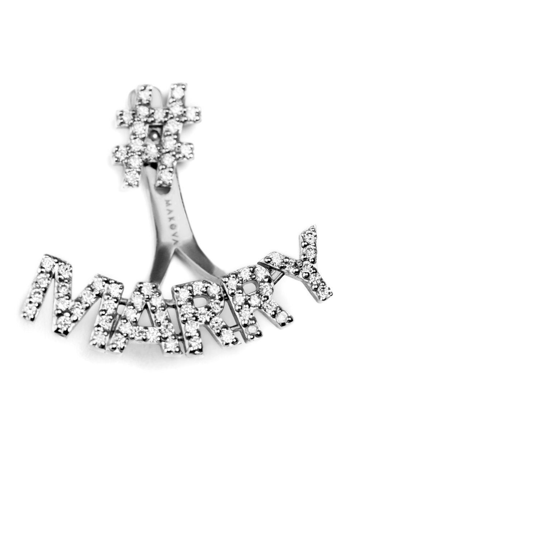 Makova Marry Me earrings