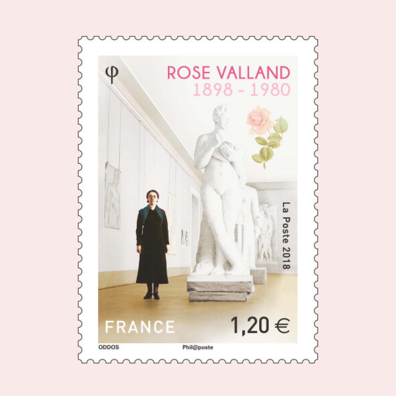 La Poste stamp honoring Rose Valland
