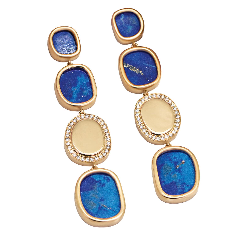 Makova Jewelry Lapis Lazuli Earrings