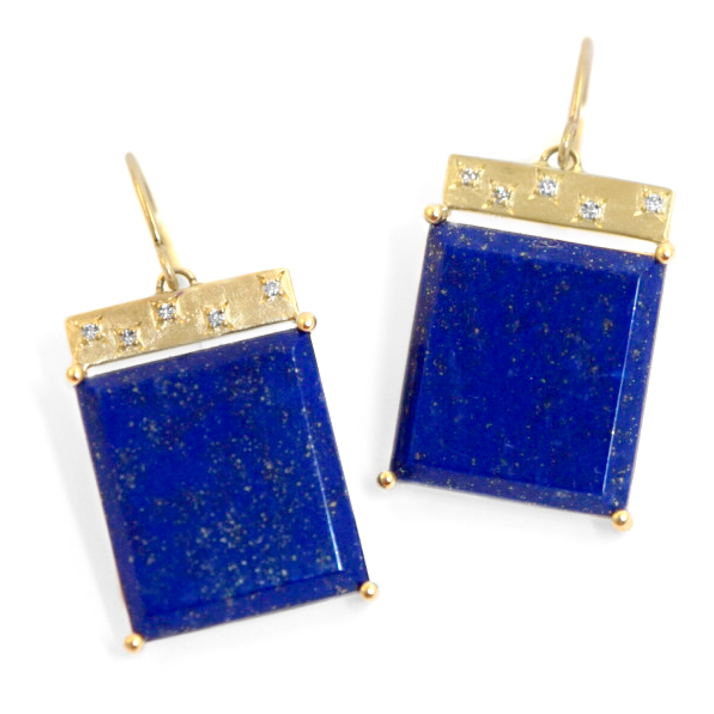 Emily Kuvin Lapis Lazuli Earrings