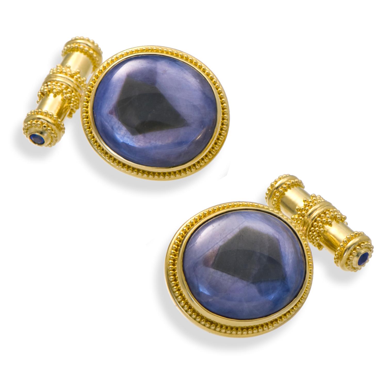 Zaffiro Trapiche Sapphire Cufflinks