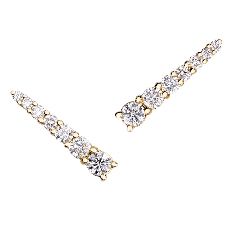 Ortaea diamond climber earrings
