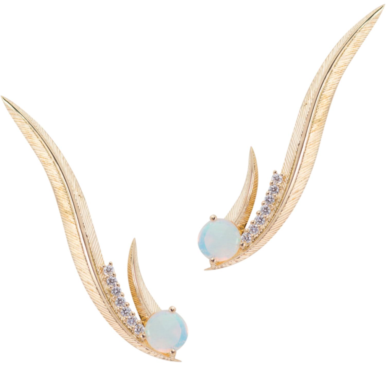 Phoenix Ear Climber earrings - Daou Jewellery