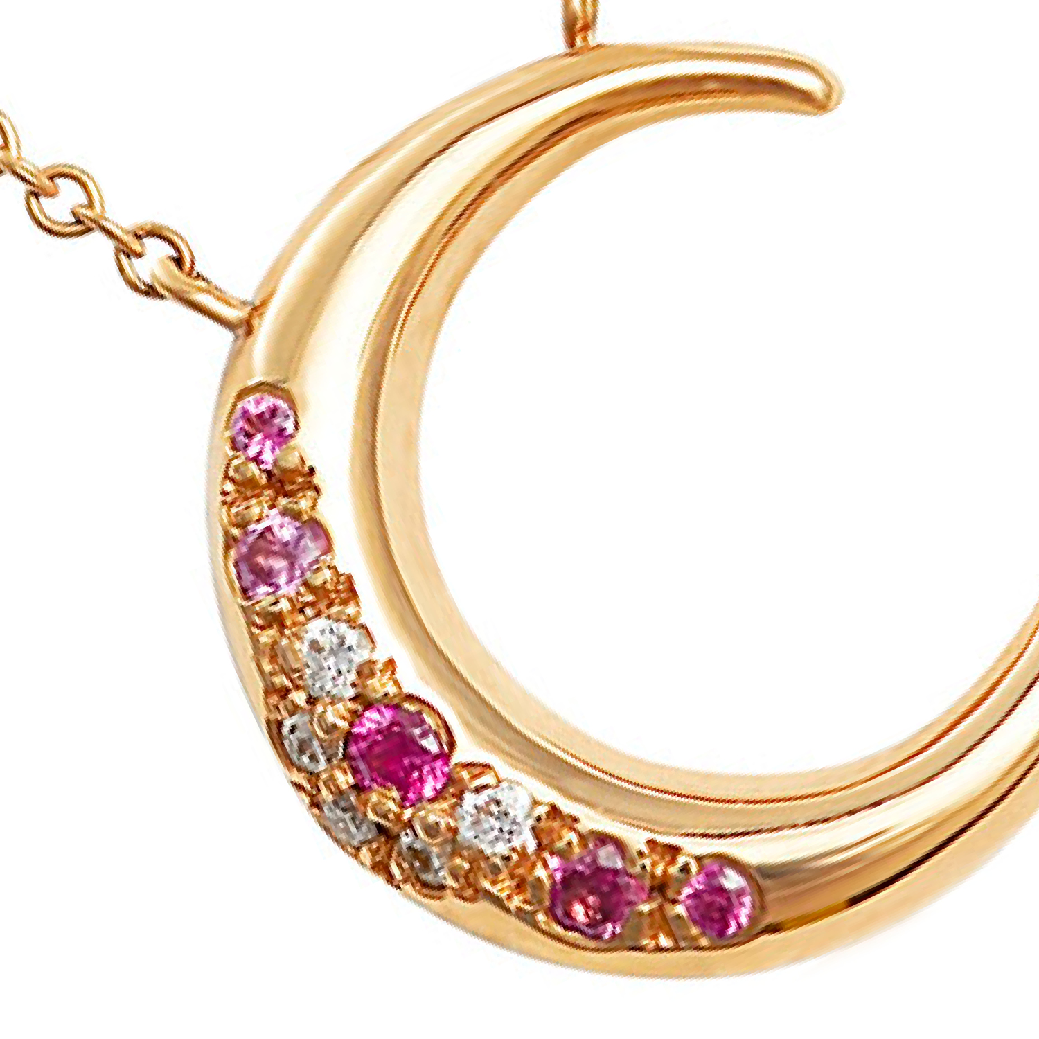 To the Moon and Back Sapphire and Diamond Necklace - Hargreaves Stockholm