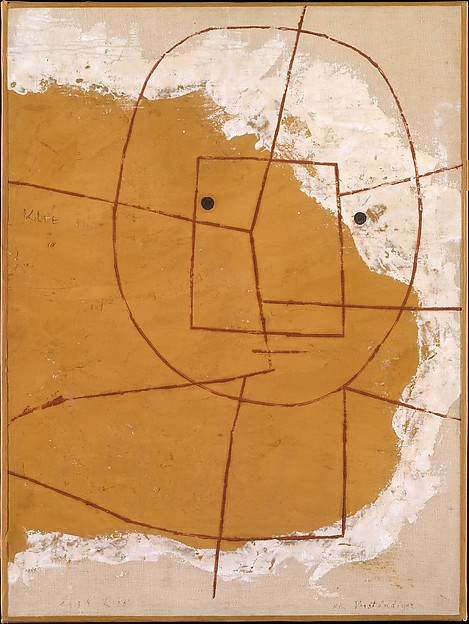 The One Who Understands by Paul Klee, 1934, oil and gypsum on canvas -- a big inspiration for Cameron Carr, frontman of Trying.