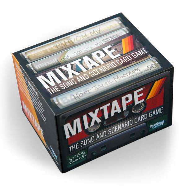Mixtape Card Game - This isn't your typical card game. There's no trivia component here that'll have players sweating. Instead, everybody gets to match their favorite songs to cute prompts (first kiss song, best summer song, etc) and choose the best fit after listening to them all. It's the perfect game to share the soundtrack of your life.