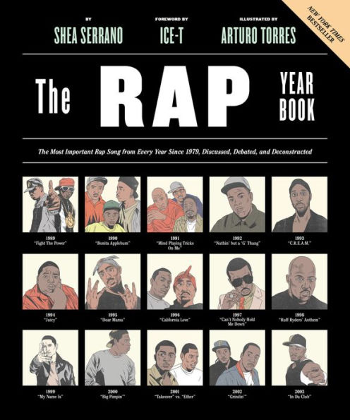 The Rap Yearbook - This New York Times bestseller captures all the best of rap, tracking the top rap songs from every year since 1979 with thoughtful discussions and cool illustrations. Plus, Ice-T wrote the forward!