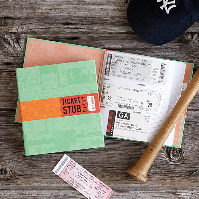 Ticket Stub Diary - Chances are the music lover in your life goes to tons of concerts. Seeing live music is always a special experience, so help them preserve those souvenir stubs with this collector's book (works for movie tickets, sporting event tickets, and more, too).