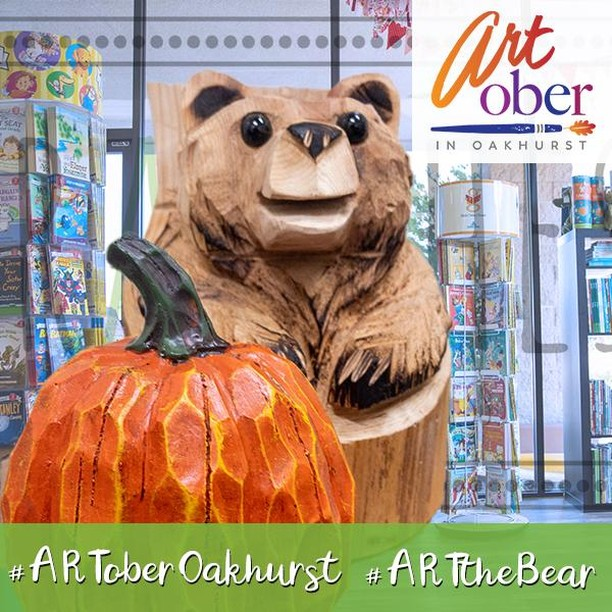 Happy ARTober 31st and Happy All Hallows Eve everyone!  You may not know it, but ART the Bear is a bibliophile and he will be in place today that will make him very happy (we know many feel the same whenever they visit this wonderful store of all things literary). You can find him from 10:30 to 5:00pm. ⠀ ⠀ .⠀ .⠀ .⠀ #ARToberOakhurst #ARTtheBear #ARTober #31Days #Halloween #Reading