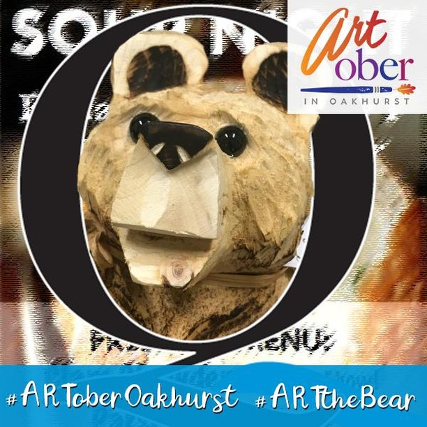 Surprise! ARTober is over but we've found one more ART the Bear that needs a new home. This one apparently snuck into a corner during the PSPS at the beginning of the week (aka: the day of darkness for most of us here in the foothills... okay, technically it was only dark at night but you get the idea) and got briefly overlooked. So with him now rescued, you can find him on this extra day along a wonderful bread bowl of soup.  He'll be Inn at a beautiful venue down by The River in the evening between 5pm and 10pm. ⠀ ⠀ Note - we hear that there will be some great live music playing too!⠀ .⠀ .⠀ .⠀ #ARToberOakhurst #ARTtheBear #ARTober #TreasureHunt #OakhurstCA