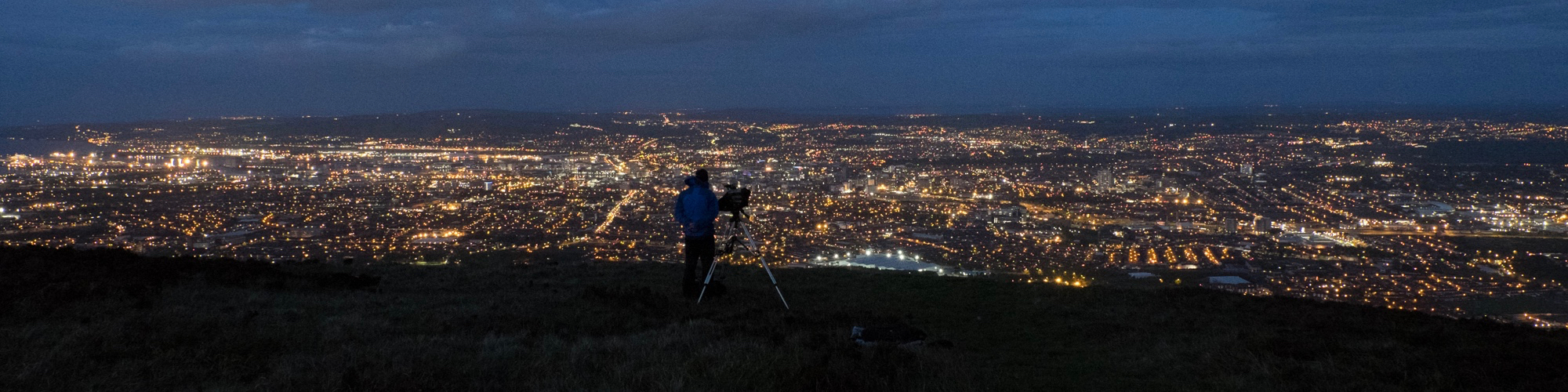 Filming above Belfast for The Reckoning